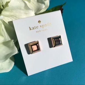 Kate Spade Rose gold square studs